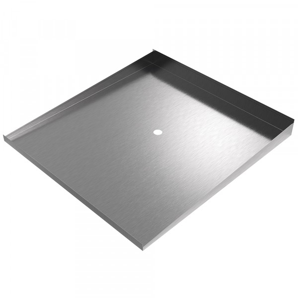 """Low Profile Washer Drain Pan - 32"""" x 30"""" - Stainless Steel"""