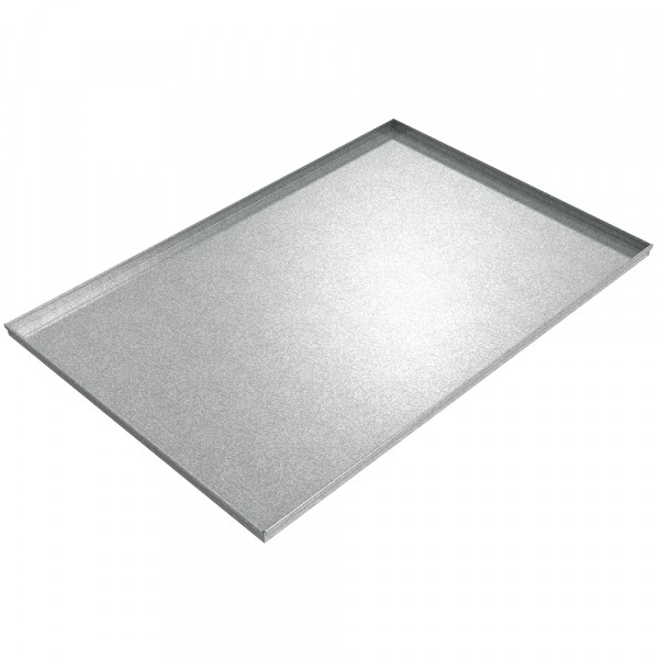 "Assembly Drip Pan - 72"" x 48"" x 2"" - Galvanized Steel"