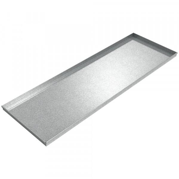 "Assembly Drip Pan - 72"" x 24"" x 2"" - Galvanized Steel"