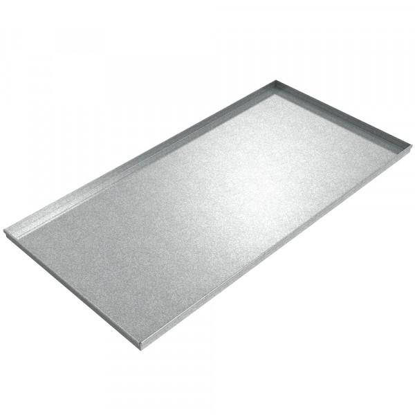 "Assembly Drip Pan - 72"" x 36"" x 2"" - Galvanized Steel"