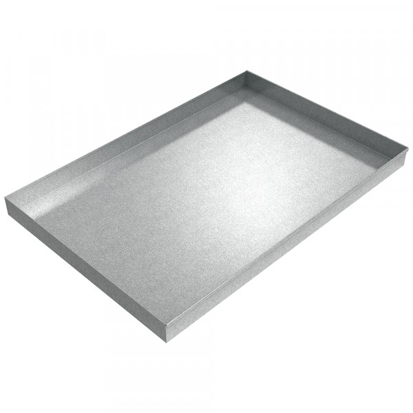 "Assembly Drip Pan - 60"" x 40"" x 4"" - Galvanized Steel"