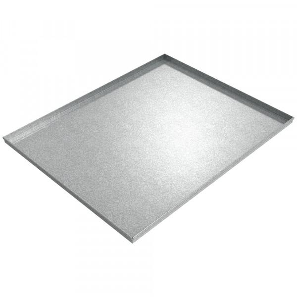 "Assembly Drip Pan - 60"" x 48"" x 2"" - Galvanized Steel"