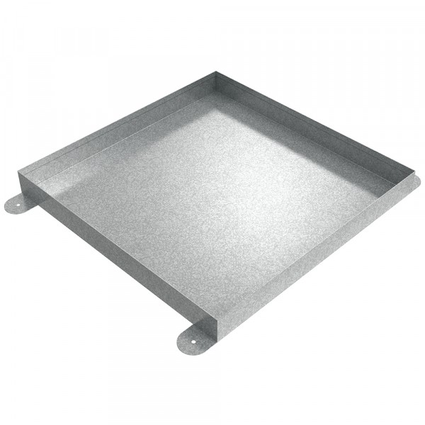"Floor Mount Drip Pan - 20"" x 20"" x 2"" - Galvanized Steel"