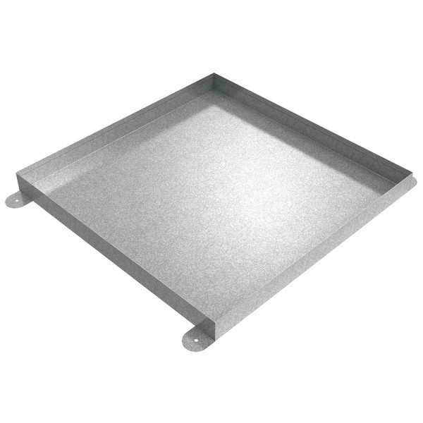 "Floor Mount Drip Pan - 24"" x 24"" x 2"" - Galvanized Steel"