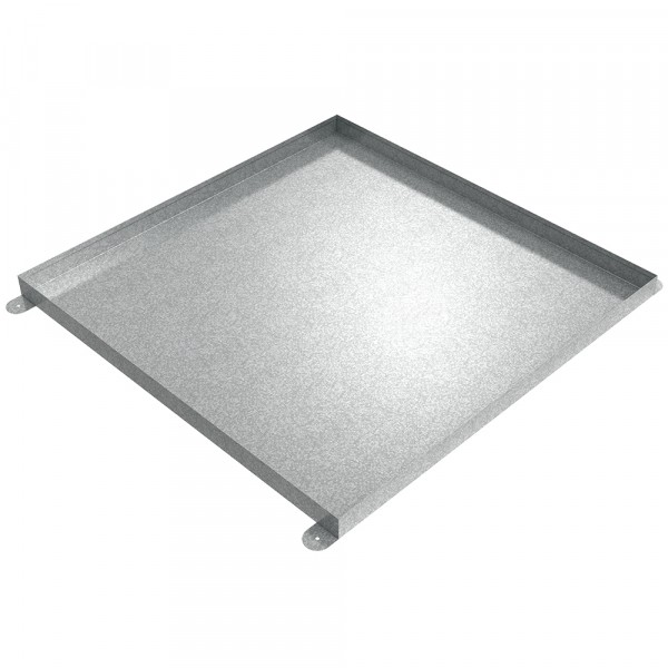 "Floor Mount Drip Pan - 36"" x 36"" x 2"" - Galvanized Steel"