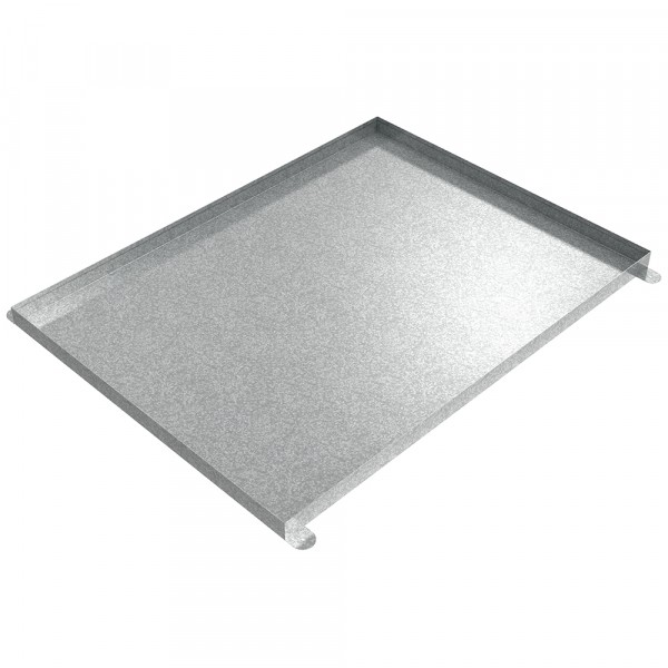 "Floor Mount Drip Pan - 48"" x 36"" x 2"" - Galvanized Steel"
