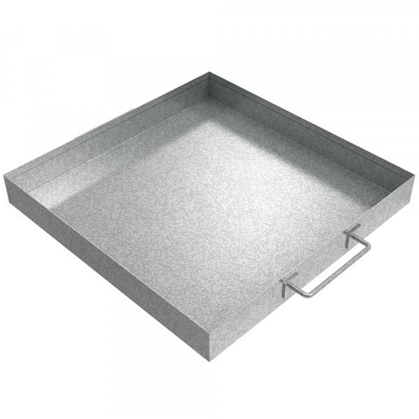 "Handled Drip Pan - 16"" x 16"" x 2"" - Galvanized Steel"