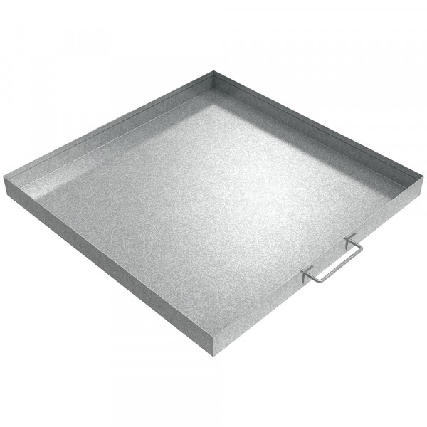 "Handled Drip Pan - 24"" x 24"" x 2"" - Galvanized Steel"