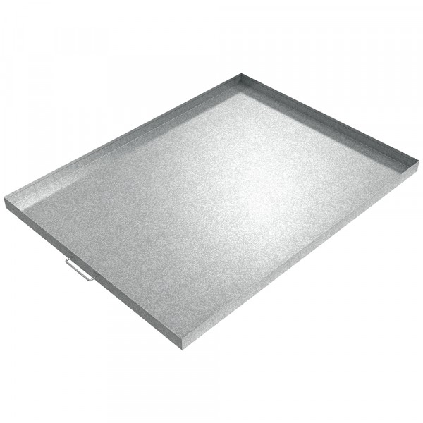 "Handled Drip Pan - 48"" x 36"" x 2"" - Galvanized Steel"