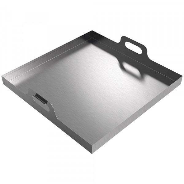 "Handled Drip Pan - 24"" x 24"" x 2"" - Stainless Steel"
