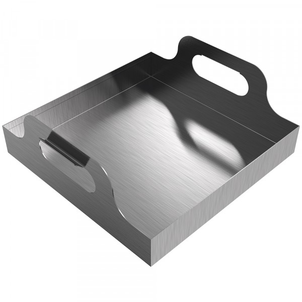 "Handled Drip Pan - 12"" x 12"" x 2"" - Stainless Steel"