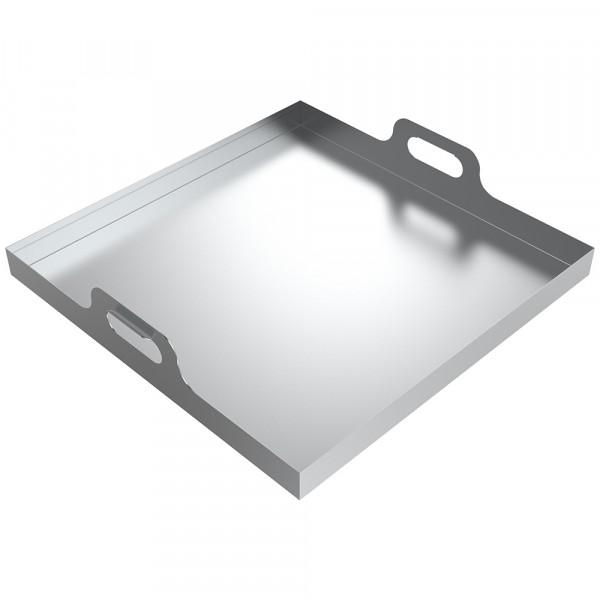 "Handled Drip Pan - 24"" x 24"" x 2"" - Aluminum"