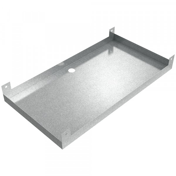 "Aviation Facility Hanging Drain Pan - 34"" x 18"" x 2"" - Galvanized Steel"