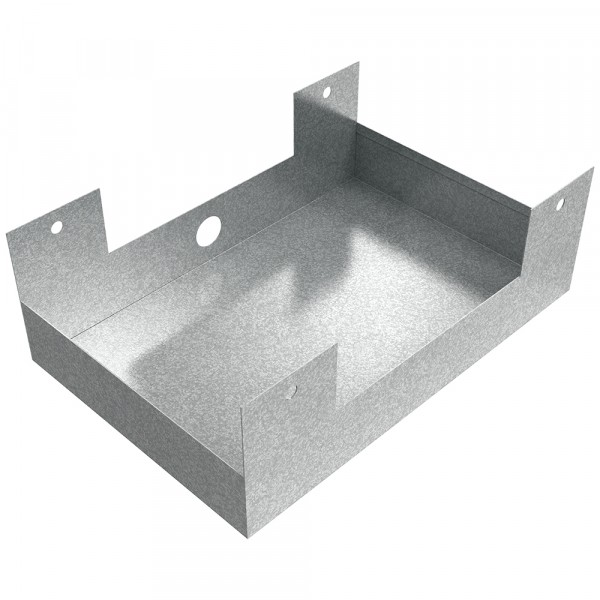"Hanging Drain Pan - 18"" x 12"" x 3"" - Galvanized Steel"