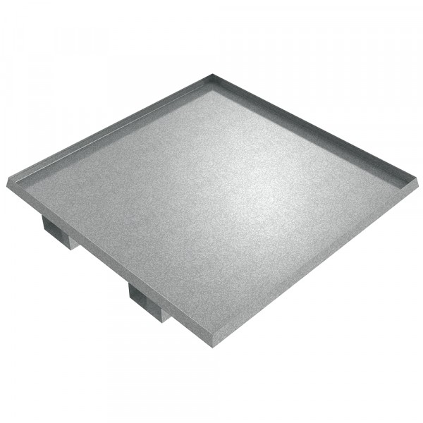 "Drum Spill Pallet - 48"" x 48"" x 2"" - Galvanized Steel"