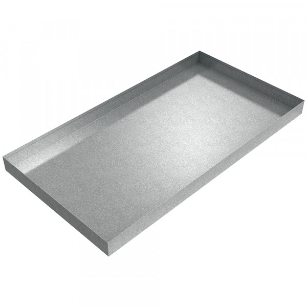 "Pallet Rack Assembly Pan - 44"" x 23.5"" x 2.75"" - Galvanized Steel"