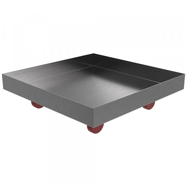 """Rolling Drip Pan - 16"""" x 16"""" x 2"""" - Stainless Steel"""