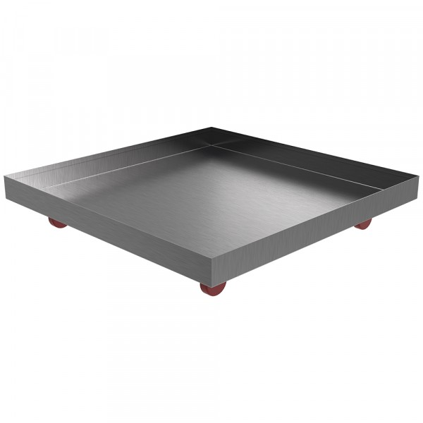 """Rolling Drip Pan - 24"""" x 24"""" x 2"""" - Stainless Steel"""