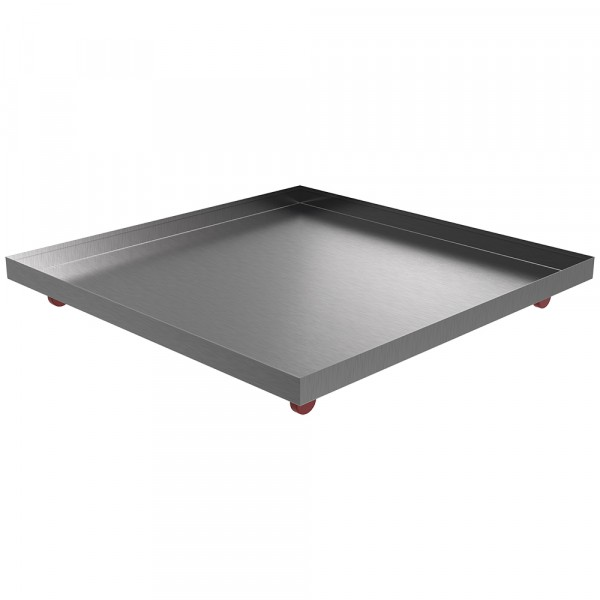 """Rolling Drip Pan - 36"""" x 36"""" x 2"""" - Stainless Steel"""