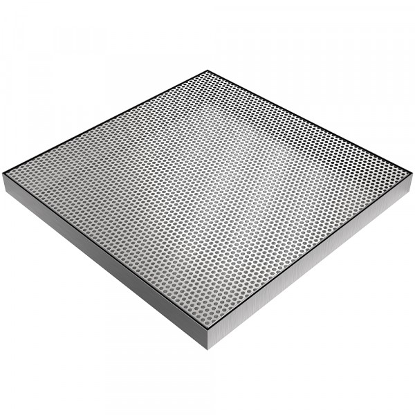 """Beverage Spill Pan with Insert - 24"""" x 24"""" x 1.9"""" - Stainless Steel"""