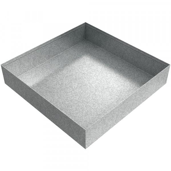 "Drip Pan - 12"" x 12"" x 2.5"" - Galvanized Steel"