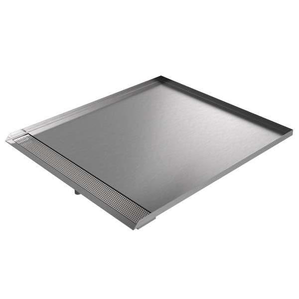 """Open Front Trench Drain Pan - 34"""" x 30"""" x 1"""" - Stainless Steel"""