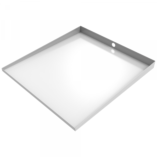 Bargain White Front-Load Washer Floor Tray with Drain - Bargain