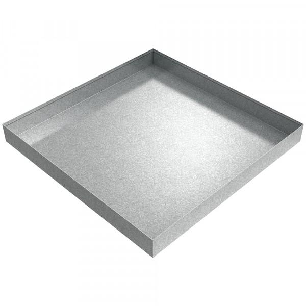 "HVAC Drip Pan - 24"" x 24"" x 2.5"" - Galvanized Steel"