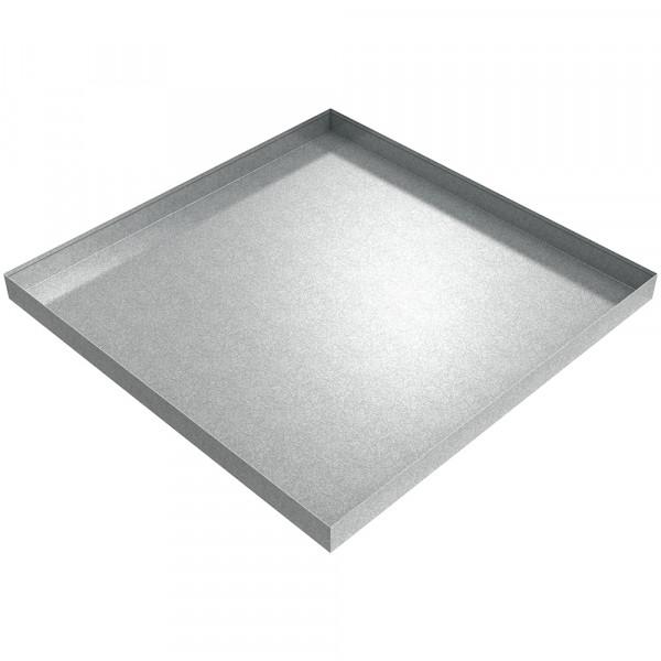 "HVAC Condensate Pan - 36"" x 36"" x 2.5"" - Galvanized Steel"