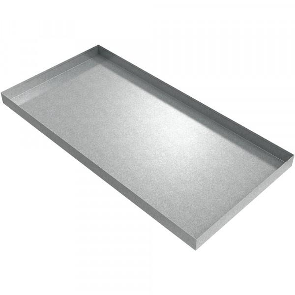 "Rectangular Galvanized Steel Drip Pan - 48"" x 24"" x 2.5"""