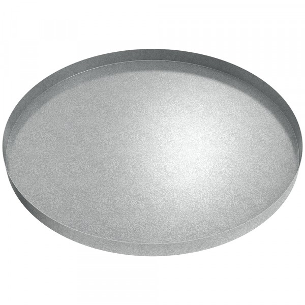 "Round Drip Pan - 36"" Diameter - Galvanized Steel"