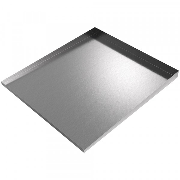 """Front-Load Washer Drip Tray - 36"""" x 32"""" - Stainless Steel"""