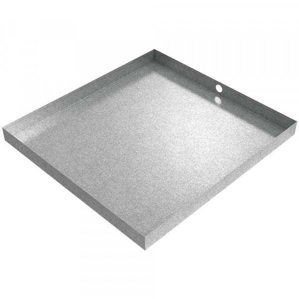 "Bargain Drain Pan - 32"" x 30"" x 2.5"" - Galvanized Steel"
