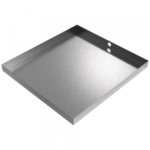 "Bargain Drain Pan - 32"" x 30"" x 2.5"" - Stainless Steel"