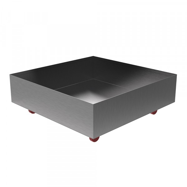 """Rolling Drip Pan - 24"""" x 24"""" x 6"""" - Stainless"""