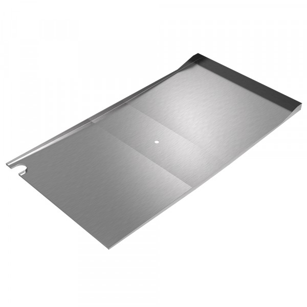 Parts Cart Sloped Drain Pan - Stainless Steel