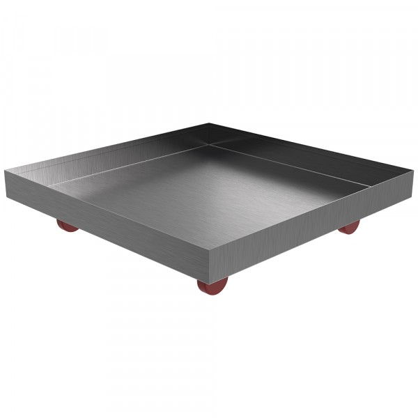 """Rolling Drip Pan - 20"""" x 20"""" x 2"""" - Stainless Steel"""