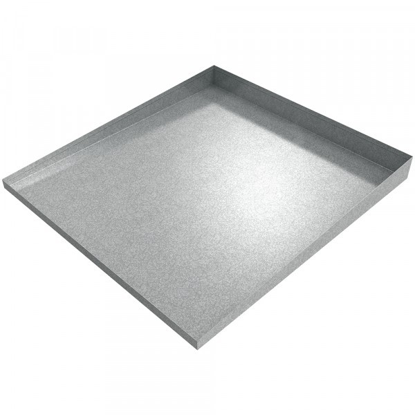 "Compact Front-Load Washer Floor Tray 25"" L x 27"" W x 1-2.5"" H- Galvanized Steel"