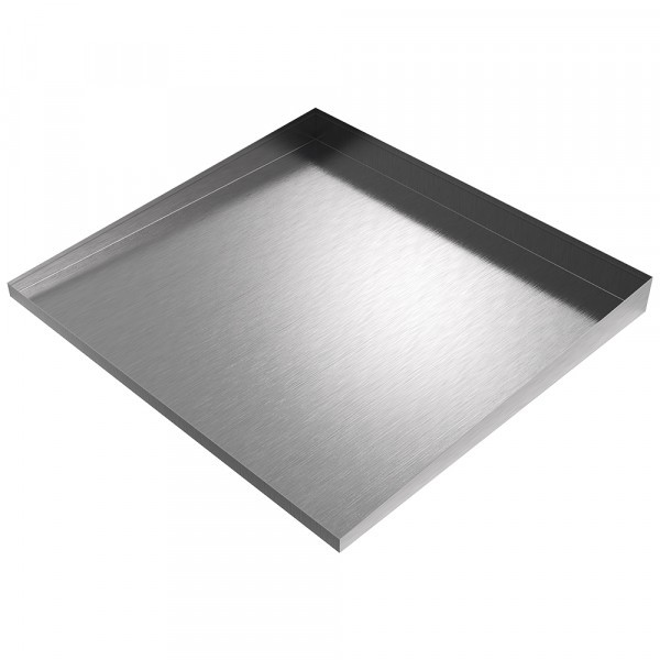 """Compact Front-Load Washer Floor Tray 25"""" L x 27"""" W x 1-2.5"""" H - Stainless Steel"""