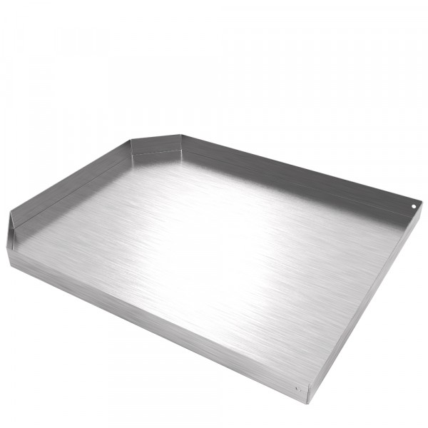 "Water Dispenser Tray-12.6""x 15.5"" x 1"" - 20 Ga CRS - Faux Stainless"