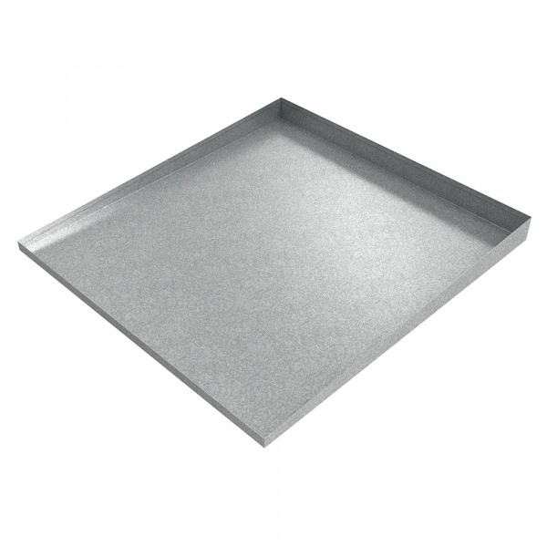 """Bargain Front-Load Washer Drip Pan 32"""" x 30"""" x 2.5"""" - Galvanized Steel"""