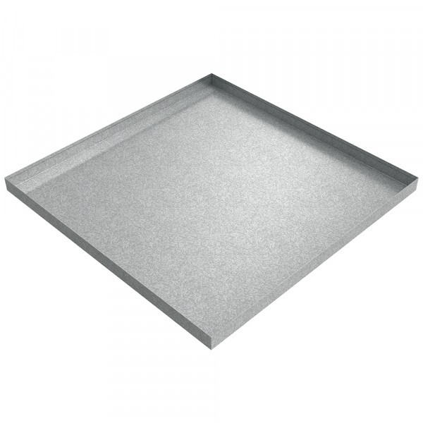 "Drip Pan - 36"" x 36"" x 2.5"" - Galvanized Steel"