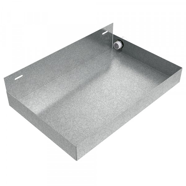 Wall Mounted Tankless Water Heater Drain Pan - 20 x 13 x 2.5 - Galvanized