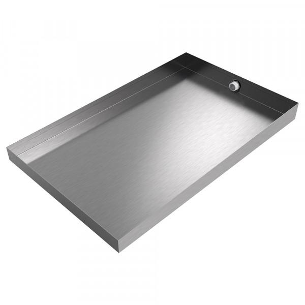 """Ice Maker Drain Pan - 24"""" x 15"""" x 2"""" - Stainless Steel"""