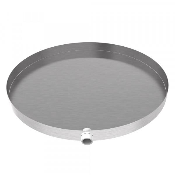 "Round Drain Pan - 28"" x 2"" - Stainless Steel"