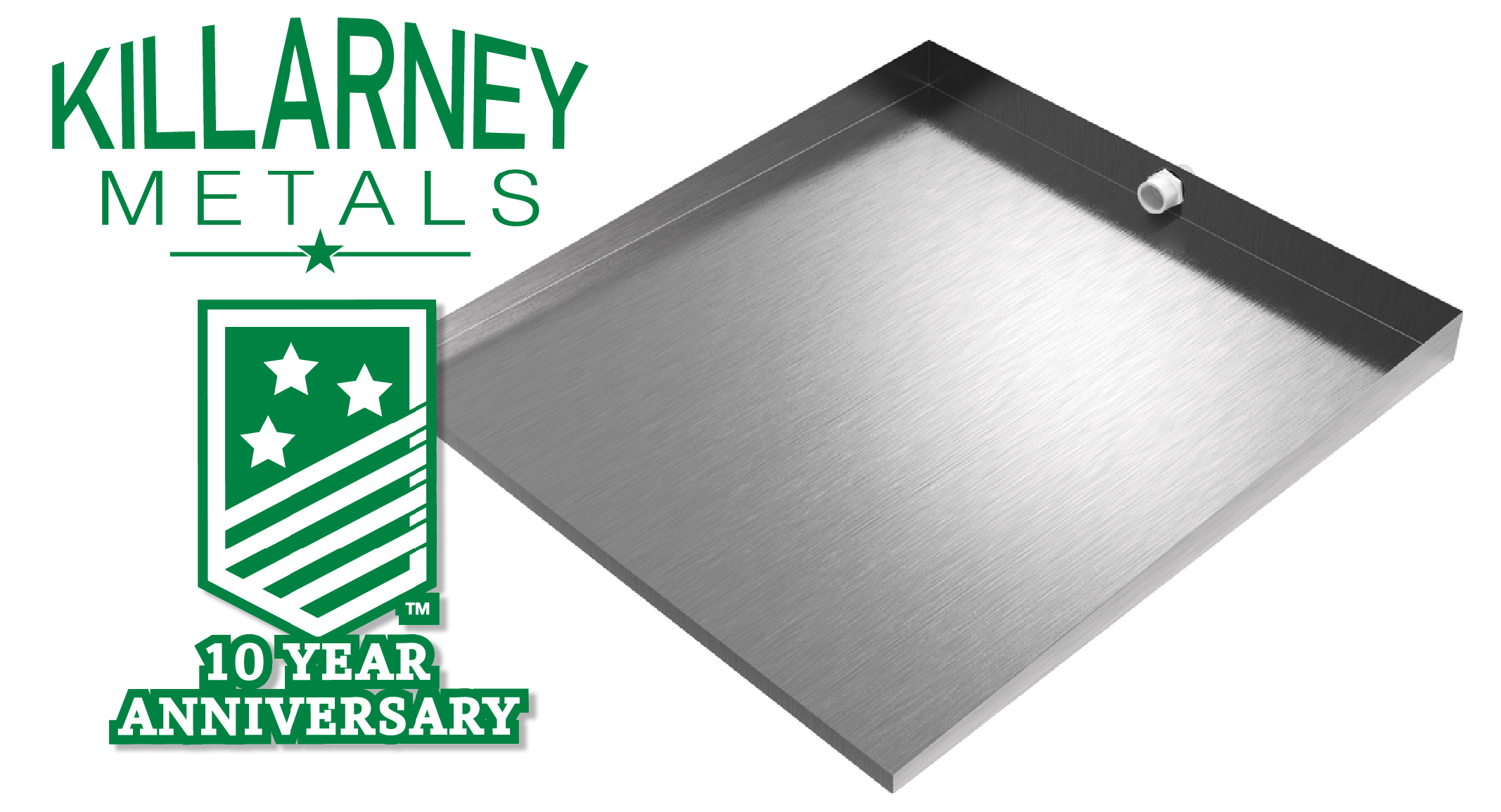 Stainless Steel Front Load Washer Drain Pan   Killarney Metals