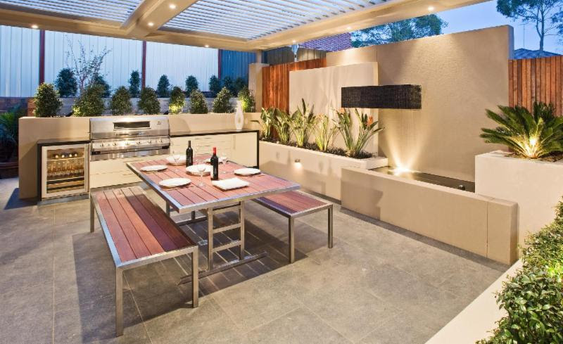 Outdoor Grill Dining Area