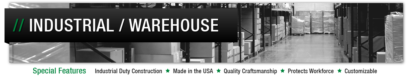 Image header for Industrial or Warehouse Drip Pan solutions page.
