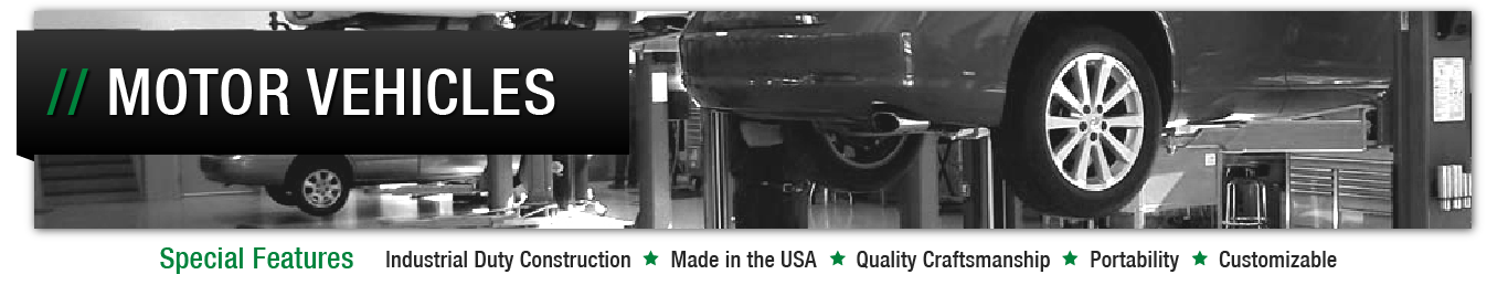 Image header for automotive maintenance facilities spill containment solutions page.