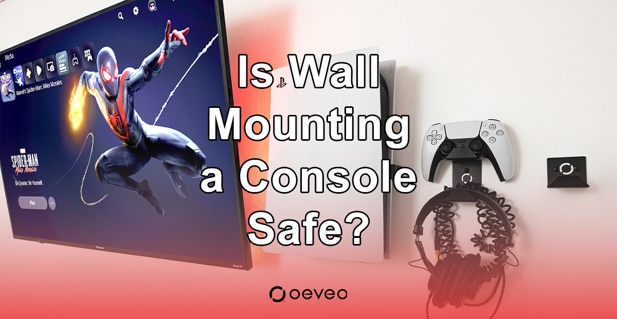 Is it safe to wall-mount a gaming console?